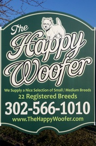 Our Sign at The Happy Woofer